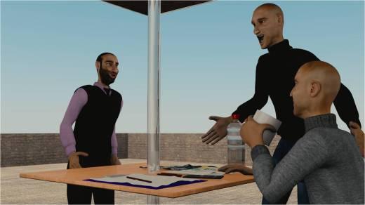Tami dan exBosnya menasehati supaya kembali bekerja tapi Syam tetap pada pendiriannya.